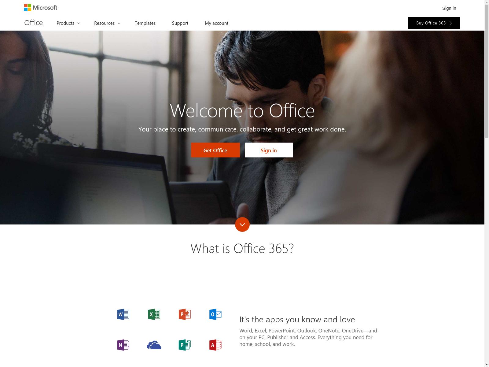 nexus officeapps live com