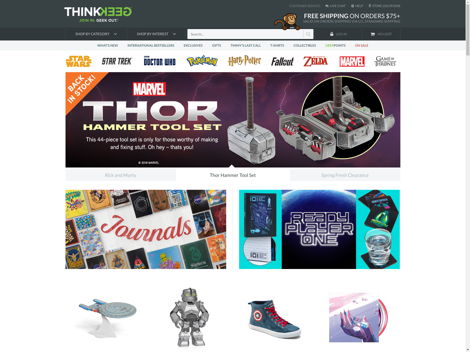 ThinkGeek. 1,, likes · 36, talking about this · 18, were here. Join In. Geek Out. Our monkeys are standing by: bestffileoe.cf, @thinkgeek.