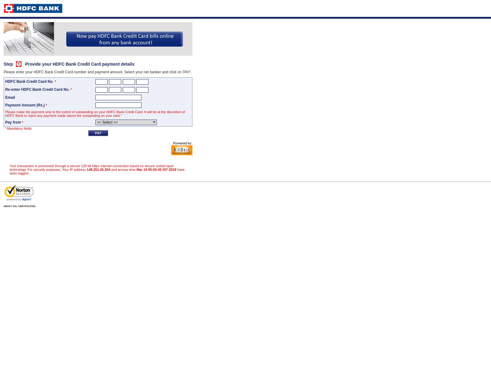 Hdfc Card Pay Billdesk Kayacard Co